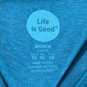 Life Is Good Tops - Life is Good Shirt Born to Run Blue XL NEW